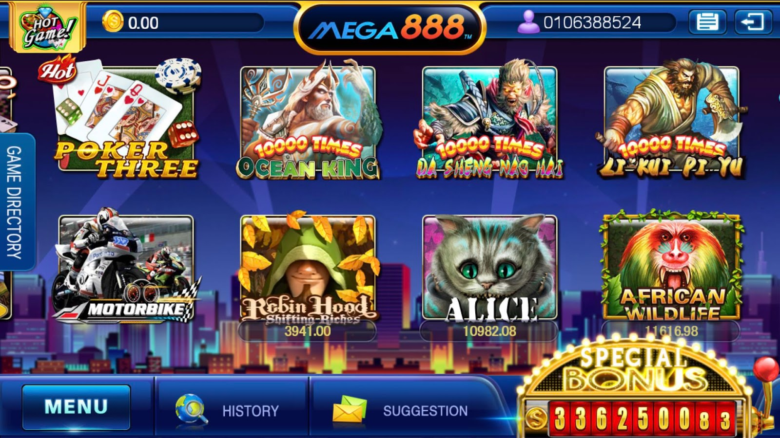 MEGA888 online slot game casino Malaysia by nicocuppen